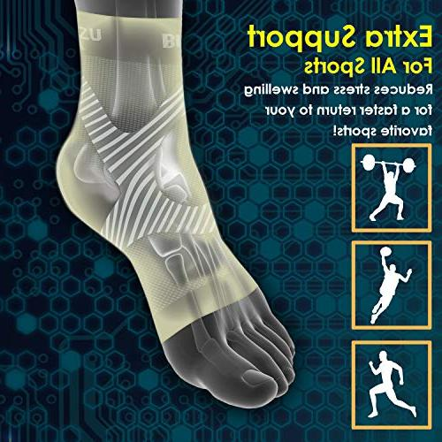 Plantar Compression Eases & Ankle Brace Support, Fast