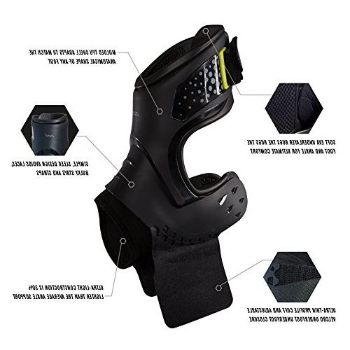 Brace, Stability, Ankle Sprain, Strains for Football, Soccer, Basketball, Volleyball - Large - Right