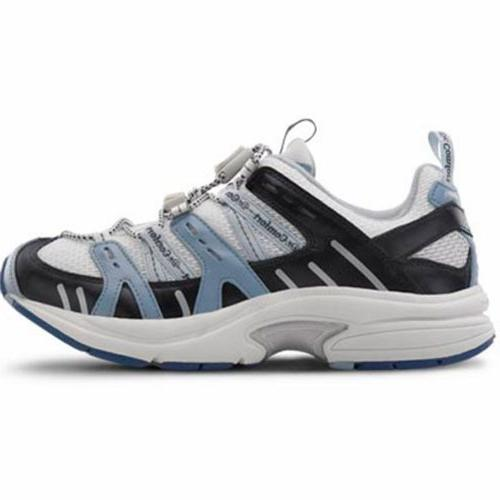 Dr. Comfort Refresh-X Therapeutic Double Depth White/Blue 9.5
