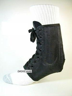 self molding ankle brace support stabilizer lace