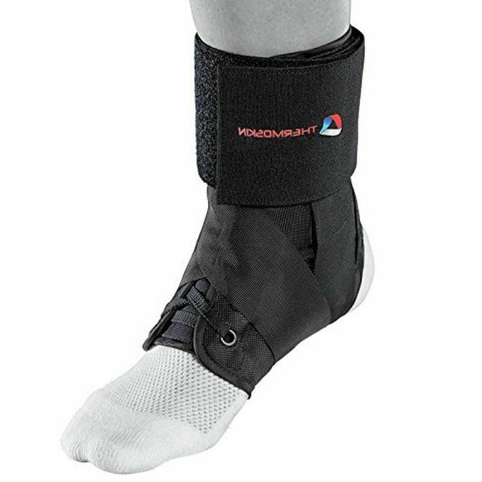 sport ankle brace black taping recovery support