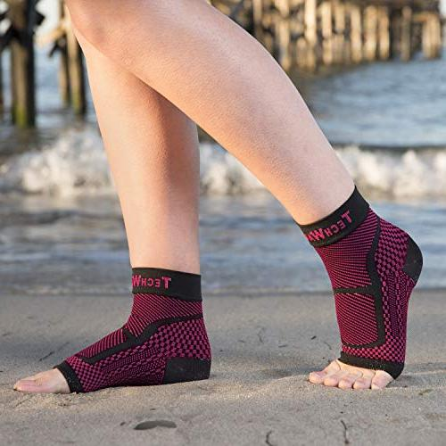 TechWare Pro Ankle Achilles Plantar Fasciitis Sock with Swelling Pain. Injury Recovery Sports
