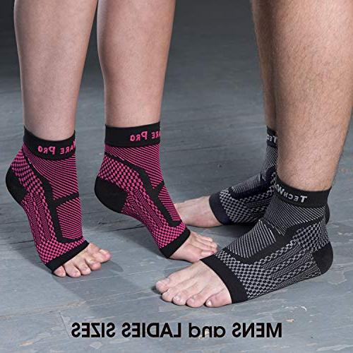 TechWare Pro Compression Relieves Achilles Tendonitis, Plantar Fasciitis with Reduces Swelling Pain. Sports