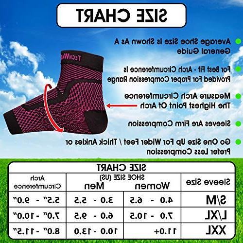 TechWare Pro Ankle Compression Achilles Tendonitis, Pain. Plantar Fasciitis Foot with Support Swelling Heel Pain. Injury for Sports