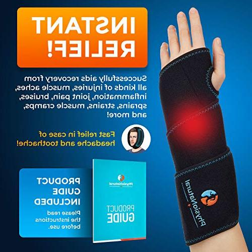 Wrist Ice Wrap - & Cold Therapy Pain Relief Tendonitis, Arthritis, Sprains - Hand with Reusable Packs