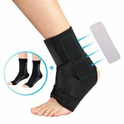 Lace Up Ankle Brace for Men and Women, Sprained Ankle Suppor