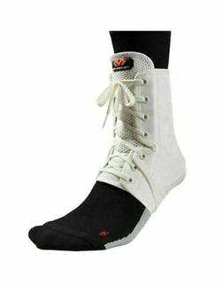 McDavid Level 3 Ankle Brace/Lace-Up with Inserts, Medium, Wh