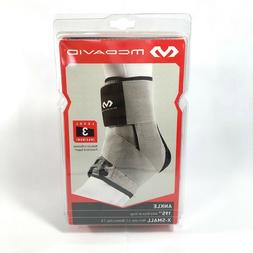 McDavid Level 3 Ankle Brace with Straps, Gray, X-Small M 6-7