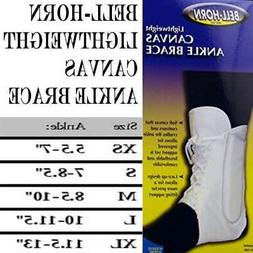 Bell-Horn Lightweight Lace-up Ankle Brace in White 165 Size: