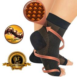 Magnetic Copper Compression Relief Ankle Support Brace Foot