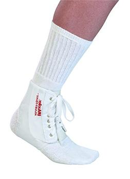 Mueller Sports Medicine Adjust-To-Fit Ankle Brace, White, On