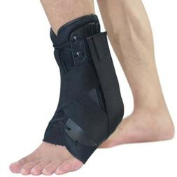Sprain Men's Lace Up Ankle Brace Pain Relief Sleeve Wrap Sup