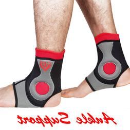 Neoprene Ankle Support Wrap Foot Drop Elastic Compression Sl