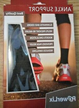 New 1 Pair S PowerLix Ankle Full Support Compression Sleeves