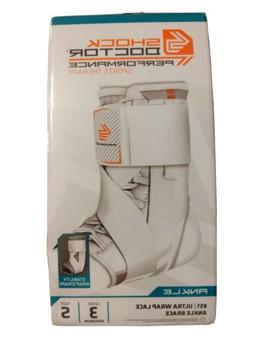 *NEW* Shock Doctor 851 Ultra Wrap Laced Ankle Brace Size S,