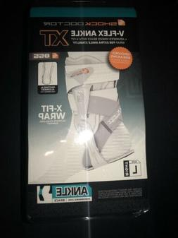 NEW SHOCK DOCTOR V-Flex Advanced Hinged Ankle Brace XT Size