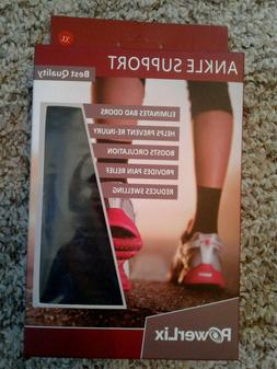 *NWT*  POWERLIX ankle brace compression support sleeve size