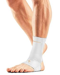 Tommie Copper Men's Recovery Thrive Ankle Sleeve, White, Sma