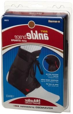 Mueller Soft Ankle Brace with Straps, X-Small, 1-Count Packa