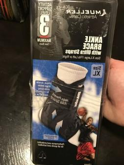 MUELLER Soft Ankle Brace with Ultra Straps X-Large Fits Men'