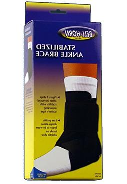 Bell-Horn Stabilized Ankle Brace, Black, Small