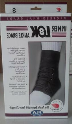 FLA ORTHOPEDICS SWEDE-O INNER LOK LACE-UP ANKLE BRACE BLACK-