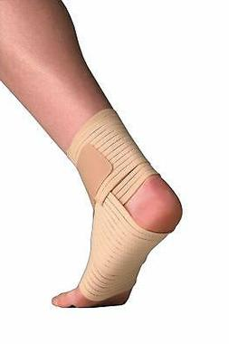 Thermoskin Elastic Ankle Wrap, Beige, Small/Medium by Thermo