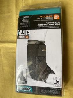 Shock Doctor Ultra Wrap Lace Ankle Support Black X-Large 9.5