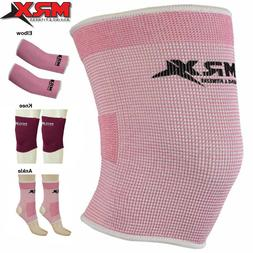 Women Compression Support Gym Knee Elbow Ankle Brace Sleeves
