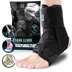 Zenith Ankle Brace, Lace Up Adjustable Support – For Runni